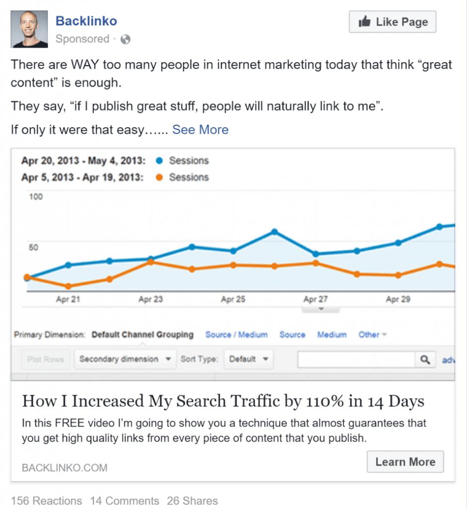 Facebook广告示例