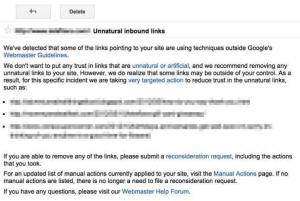 谷歌人工惩罚信息