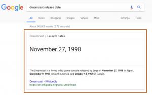 谷歌搜索结果维基百科推荐