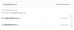 站点相关邮件地址查找结果