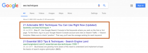 文章在搜索结果中排名第一