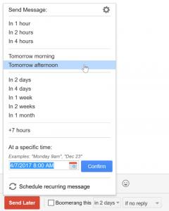 在指定时间发送你的邮件