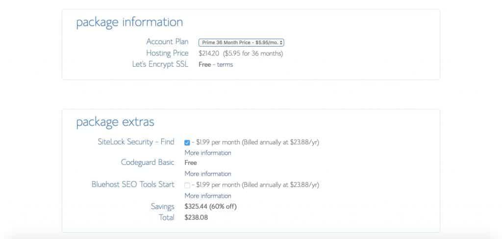 Bluehost WordPress服务器套餐选择