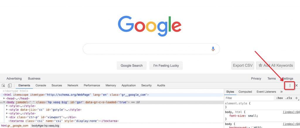Chrome模拟定位步骤一