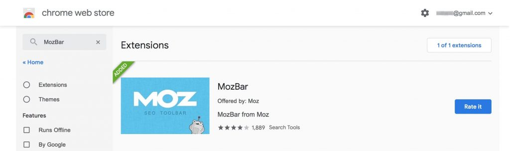 MozBar Chrome插件