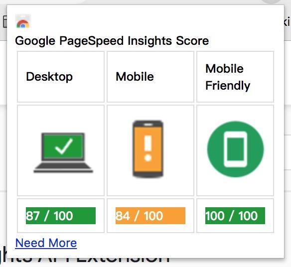 页面数据评分结果