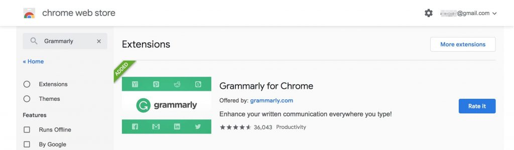 Grammarly Chrome插件