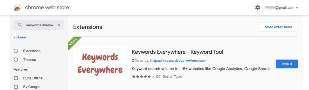 Keywords everywhere Chrome插件