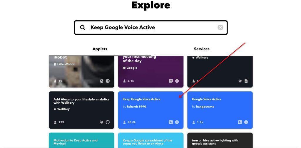 IFTTT Keep Google Voice Active 服务