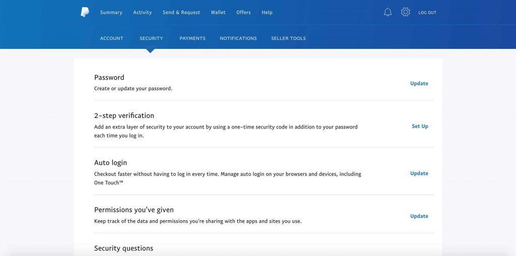 PayPal账号安全设置