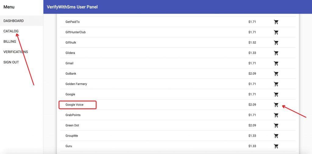 verifywithsms购买Google Voice验证码接收服务