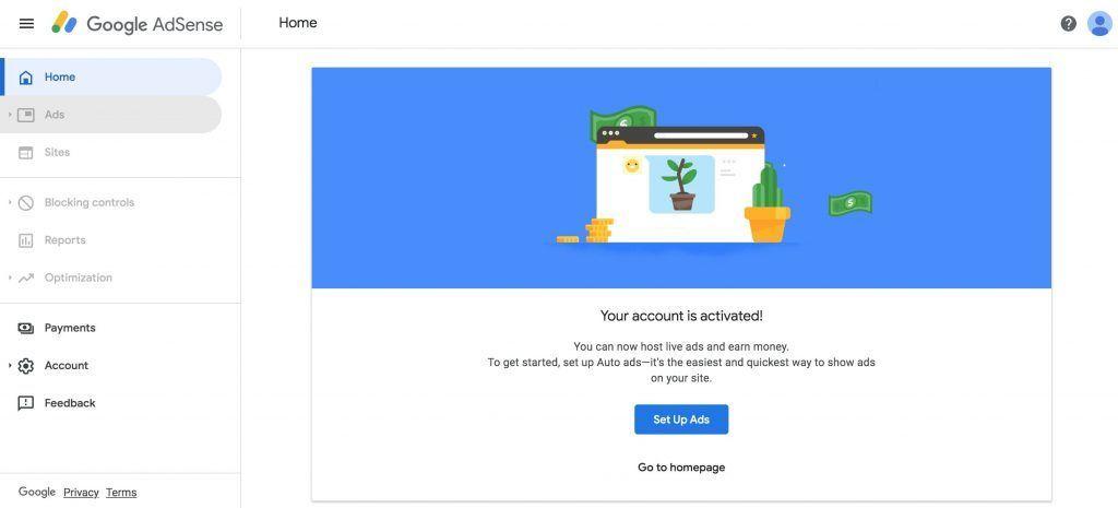 开始Google Adsense配置